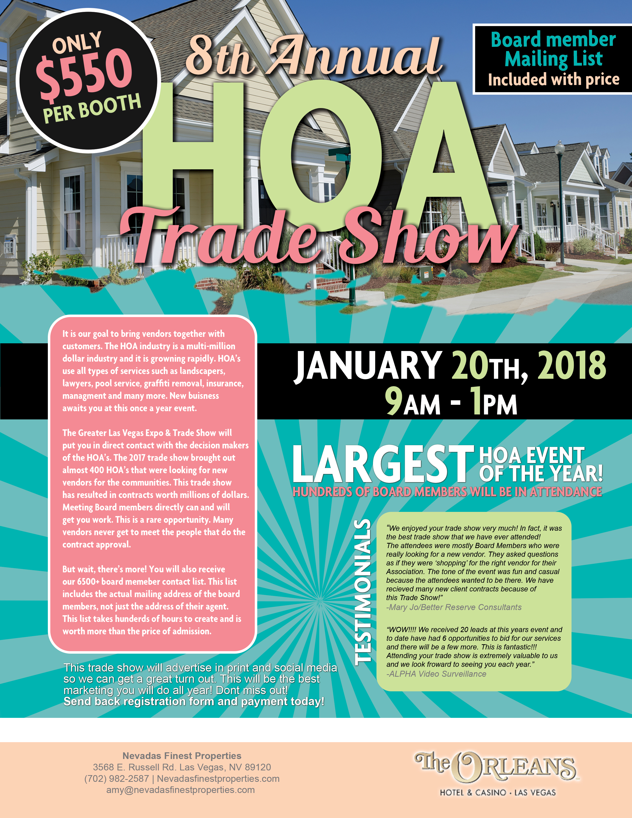2018 Trade Show Flyer - FullPage