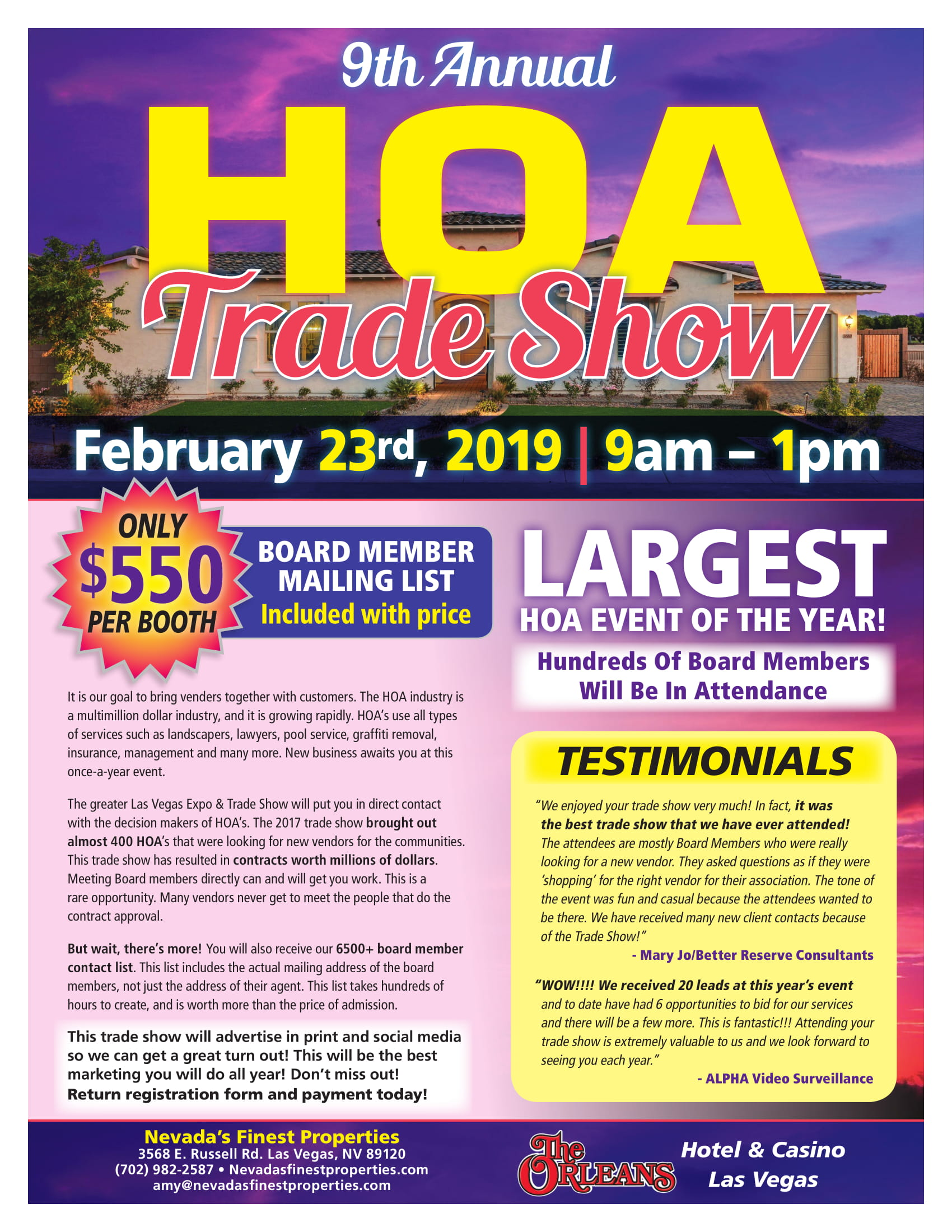 Nevadas Finest Properties 2019 HOA Tradeshow Flyer-1